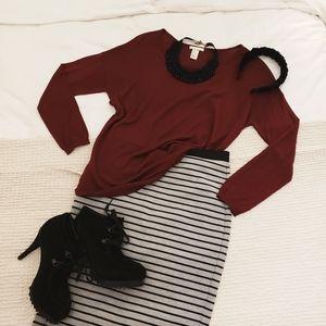 H&M Lightweight Sweater Long Sleeve Top (sz M)